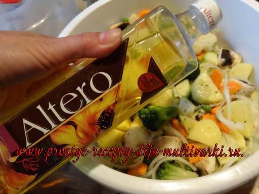 Овощи, тушеные в мультиварке. Рецепт с фото.