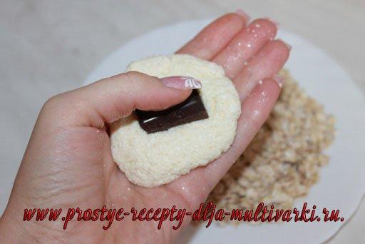 Сырники с шоколадом в мультиварке