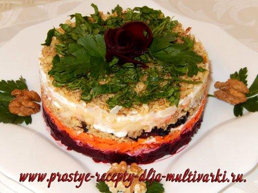 Вкусный овощной салат