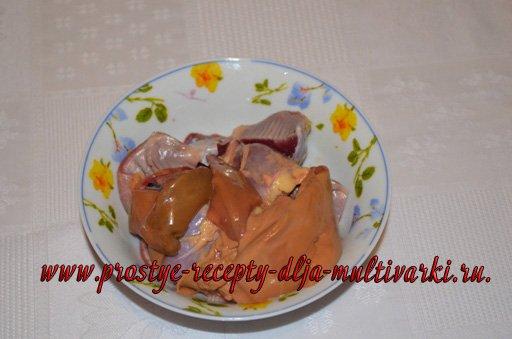 Блюда из субпродуктов в мультиварке