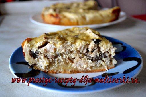 Куриный пирог в мультиварке