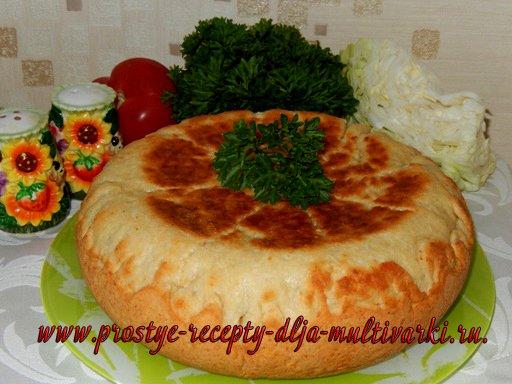 Пирог с фаршем в мультиварке. Творожное тесто для пирога